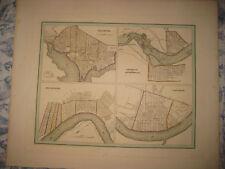 LARGE ANTIQUE 1838 WASHINGTON DC NEW ORLEANS LOUISVILLE CINCINNATI BRADFORD MAP