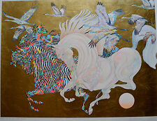 GUILLAUME AZOULAY SERIGRAPH LE VOL DES GRUES SIGNED #29/100 W/COA
