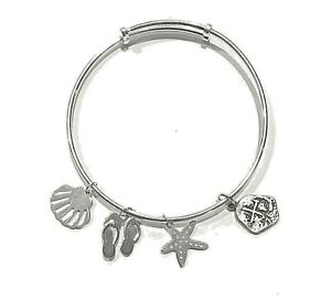 Atocha Coin Bangle Sterling Silver With Sandal Sand Dollar Adjustable