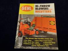 Vtg GEHL Hi-Throw Blower Recutter Farm Equipment Color Advertising Brochure Q429