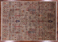 "5' 8"" X 7' 10"" Tribal Gabbeh Hand Knotted Wool Area Rug - Q3211"