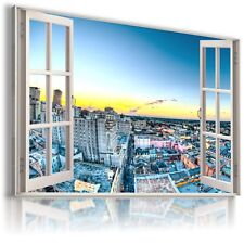 """FRANCE PARIS 3D Window View Canvas Wall Art Picture Large 30X20"""" W140 MATAGA ."""