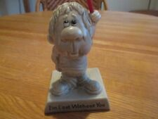 "Vintage 1969 Russ & Wallace Berrie & Co.  ""I'M LOST WITHOUT YOU"" Statue Figurine"