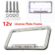 54Red LED 12v Lighting Acrylic Plastic License Plate Cover Frame  Universal Type