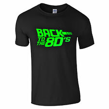 Back To The 80's T-Shirt - Fancy Dress Neon Print Love 80s Party Dance Club Top
