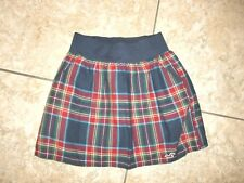 """Junior's""""HOLLISTER""""Plaid 100%Cotton Lined Flare Flippy Lined Mini Skirt  size XS"""
