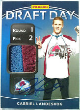 /10 GABRIEL LANDESKOG BLACK FRIDAY DRAFT DAY PRIME PATCH AUTO Panini 2011 11 12