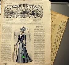 LA MODE ILLUSTREE + PATRON,  n° 3/1898 Voir modèles à réaliser, FRENCH PATTERN