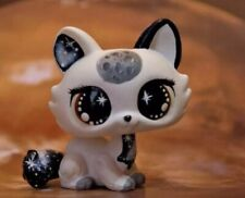 Littlest Pet Shop Galaxy Crouching Cat Ooak Custom, Hand Painted With Accesorios