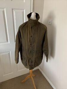 Men's Vintage 1998 Brown Barbour Moorland Wax Jacket Size 44