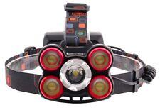 Linterna Multi Foco Enfocable ajustable para cabeza con zoom de luz blanca