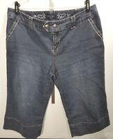 Sonoma Petite Capri Blue Jeans Size 16 Womens