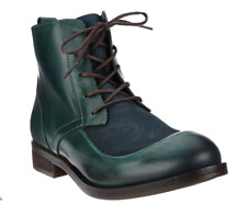 FLY London Leather Lace-up Ankle Boots Arty Petrol Women's EU36 US 5.5-6
