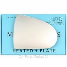 Right side Flat Wing mirror glass for Mitsubishi Colt 2004-2012 Heated + plate