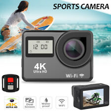 4K Dual Screen Wifi HD 1080P Waterproof Sports Action Camera DVR Cam Camcorder
