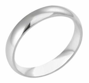 LIFELONG PLATINUM/STEEL ALLOY 4MM WIDE LUSTEROUS WEDDING BAND SIZE 7 & 3/4