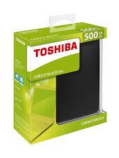 500GB Basics USB 3.0 Portable External Storage Hard Drive For Toshiba Black
