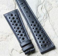 for Triumph Tiger Monaco 20+ sold Blue 24mm racing vintage watch band 1960s/70s