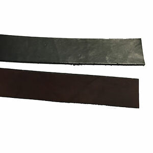 SECONDS: One 10-12oz BROWN or BLACK LEATHER Heavy Weight Strap Strip Hide Pieces