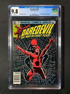 Daredevil #188 CGC 9.8 (1982) - RARE Newsstand Edition - Black Widow cover