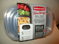 Rubbermaid Take Alongs Meal Prep Containers Built in Dividers
