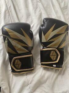Society Nine womens Bia boxing gloves 12 oz Black Gold