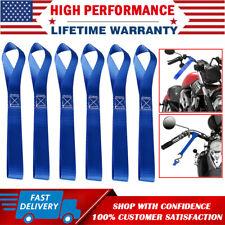 6X Azul Suave bucle correas de amarre Trinquete 4500lbs Coche Trinquete de equipaje de moto