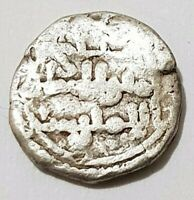 1/2 QUIRATE DIRHAM Ali Ibn Yusuf & Sir 0.47g Hispano Arabe HAMMERED Silver Coin