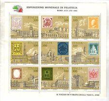 LOTTO 9 FRANCOBOLLI - Esposizione Mondiale Di Filatelia Roma 25-X  3-XI 1985