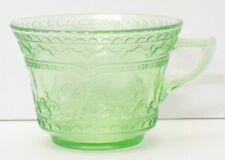 Federal Glass Patrician Spoke Green Depression Coffee / Tea Cup
