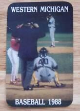 Western Michigan Broncos College Baseball Schedule 1988