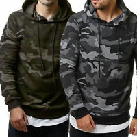 Mens Military Coat Fashion Sweater Tops Jacket Hoodie Sweatshirts Camo Casual