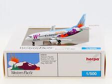 """Herpa 1:500 - 519151: Western Pacific Boeing 737-300 """"Colorado Springs"""" - NEU"""