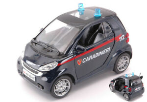 Model Car Smart Fortwo Carabinieri 1:24 vehicles diecast collection