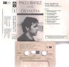 PACO IBAÑEZ En el OLYMPIA    DIFICIL CASSETTE PAPER LABEL   1973