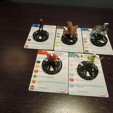 Heroclix Uncanny X-Men Rare Lot of 5 Figures w/ Cards in  Near Mint Condition
