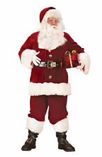Santa Claus Suit Super Deluxe Funworld Costume Outfit Christmas Satin Lined