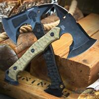 """10""""  SKULL FULL TANG Tactical Hunting Camping Survival Axe w/ Spike"""