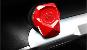 Fit For Car One Click Start Button Protect 1pcs Red Decoration Cover Metal Alloy