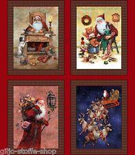 Santa Panel Patchworkstoff Weihnachtsstoff Weihnachten Stoffe Weihnachtsmann