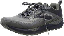 Brooks Men's Cascadia 14 Trail Running Shoes, Grey/Navy, 13 D(M) US