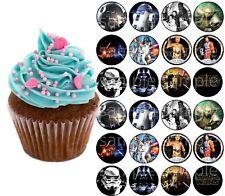 Star Wars Darth Vader Yoda Eßbar Tortenaufleger Muffinaufleger Party Deko neu