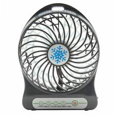 Mini Portable Fan 3-Level Speed LED Light