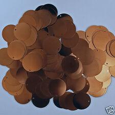 Sequins Flat Paillettes Brown 25mm 50 pieces