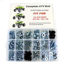 For ATV Kawasaki KFX400 KFX450 KFX700 KFS400 Plastic Frame Body Plastic Bolt Kit