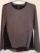 ANN TAYLOR knit top, lace back XS