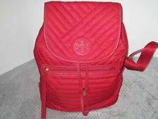NWOT Tory Burch Backpack Purse Bag Handbag 40941 Authentic Red Quilted Kir Royal