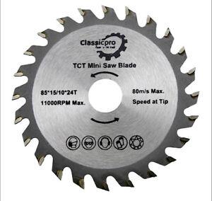 85mm x 24T TCT Circular Wood Saw Blade Worx  Bosch Makita Ryobi UK