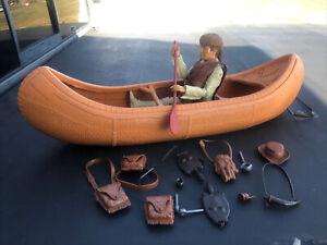 Marx Johnny West U K Canoe Very Rare!  With Custom Daniel Boone And Accessories