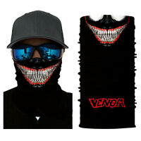 Motorcycle venom Tactical Face Shield Sun Mask Balaclava Tubes Neck Gaiter Scarf